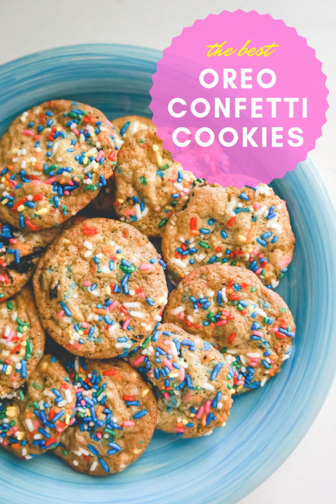 Oreo Confetti Party Cookies
