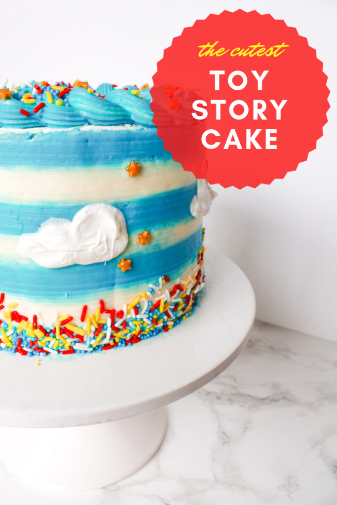 Toy Story Striped Cake
